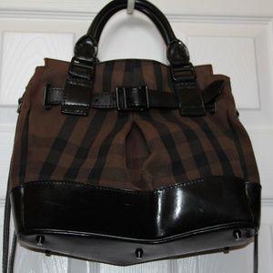 Burberry Smoke Check Handbag with Shoulder Strap